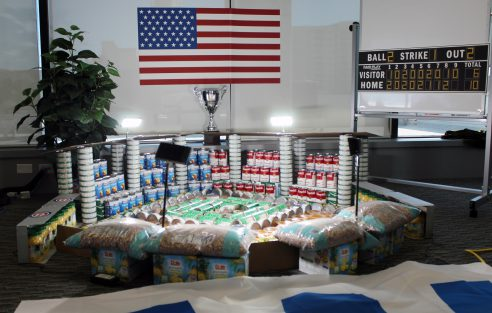 Food Drive Fun: S-One's Game-winning Can-struction Competition