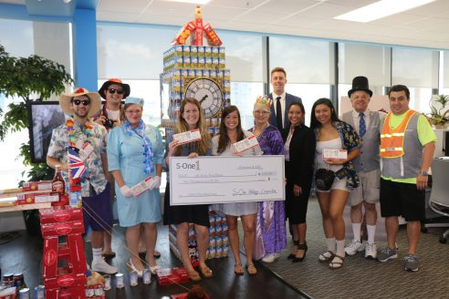 S-One Goes Around the World for All Faiths Food Bank